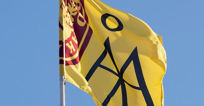 Åbo Akademis flagga. foto: Stefan Crämer