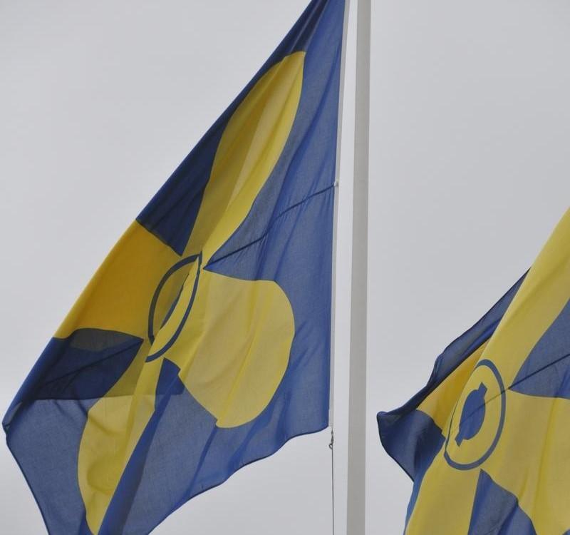 Kimitoöns flagga.