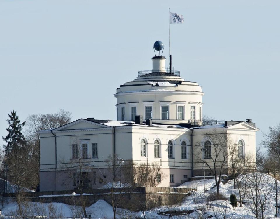 Observatoriebyggnad på berg