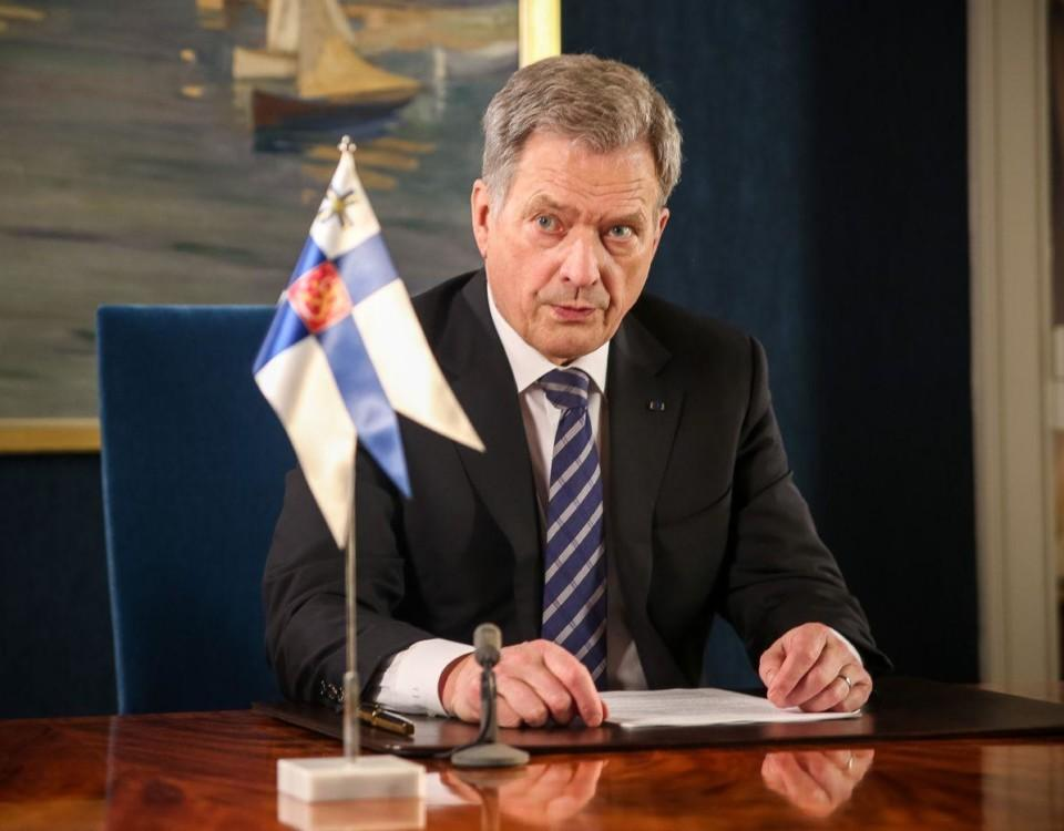 President Sauli Niinistö. Foto: Presidentens kansli