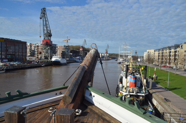 Et bogspröt på ett segelfartyg