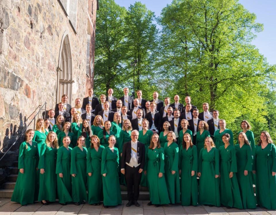 Florakören och Brahe Djäknar uppträder på Svenska dagen.