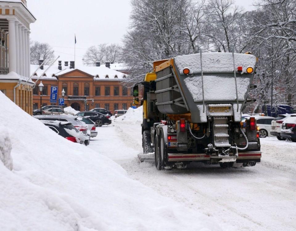 Snöröjningsbilar i Åbo