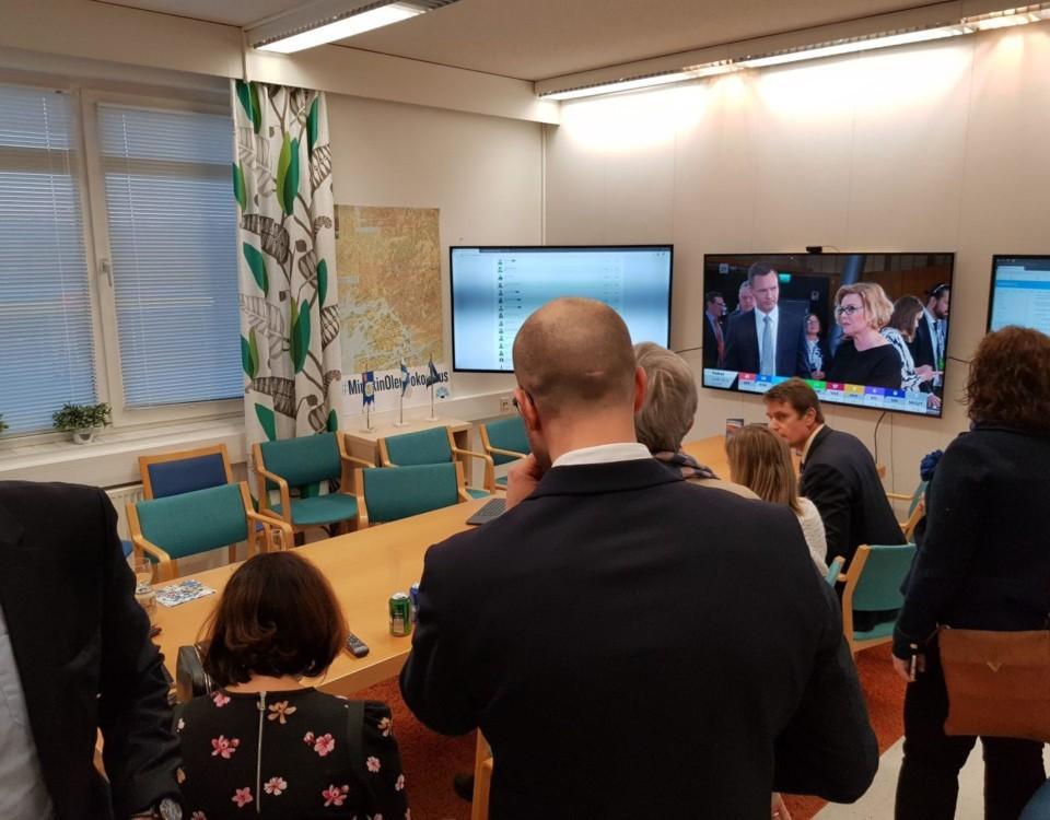 Människor på ett kontor.