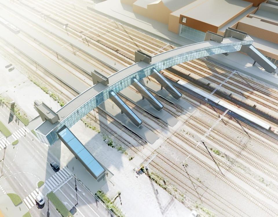 Bro över järnvägsspår