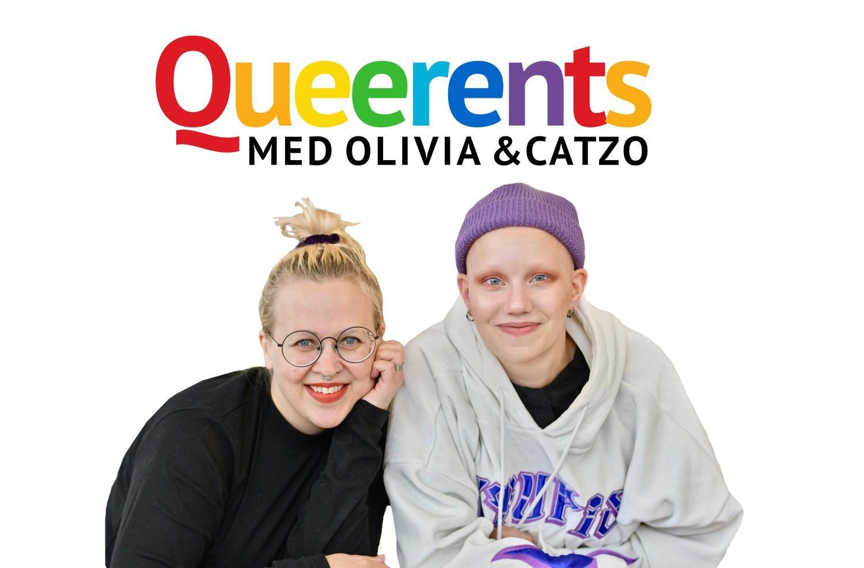 Två kvinnor med texten Queerents.