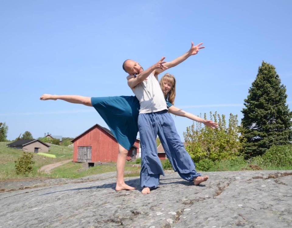 ElinMaria och Gabriel Sydänvirta dansar