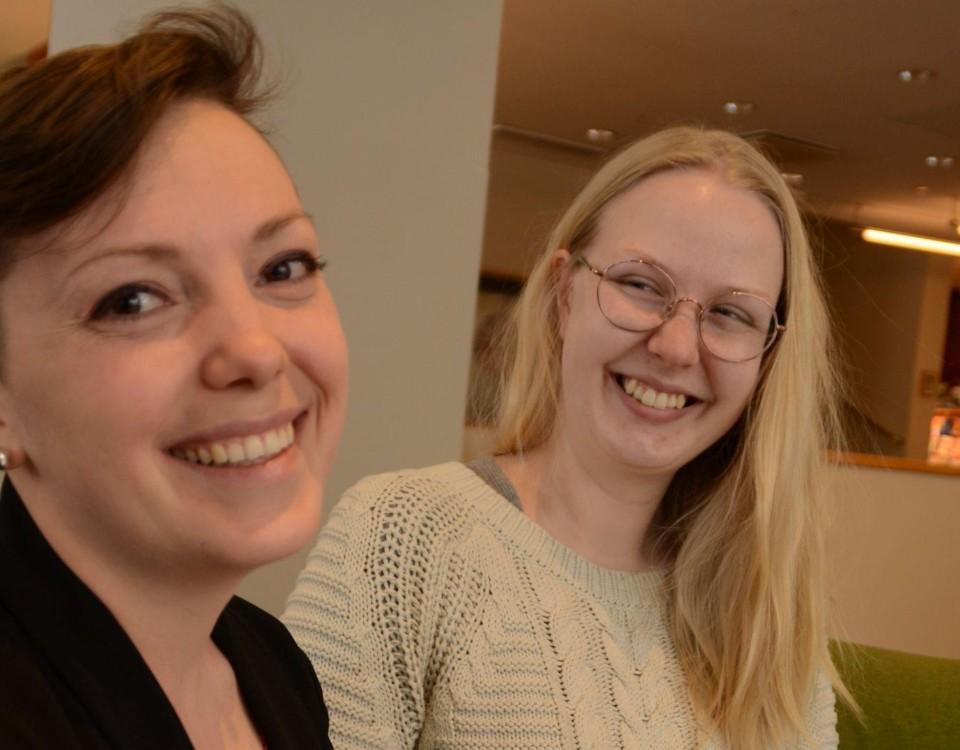 Fr.v. Sofia Liljeström och Hanna Nyberg