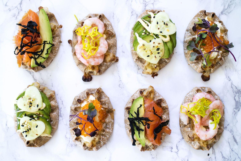 Karelska piroger med sushiinspirerad fyllning.