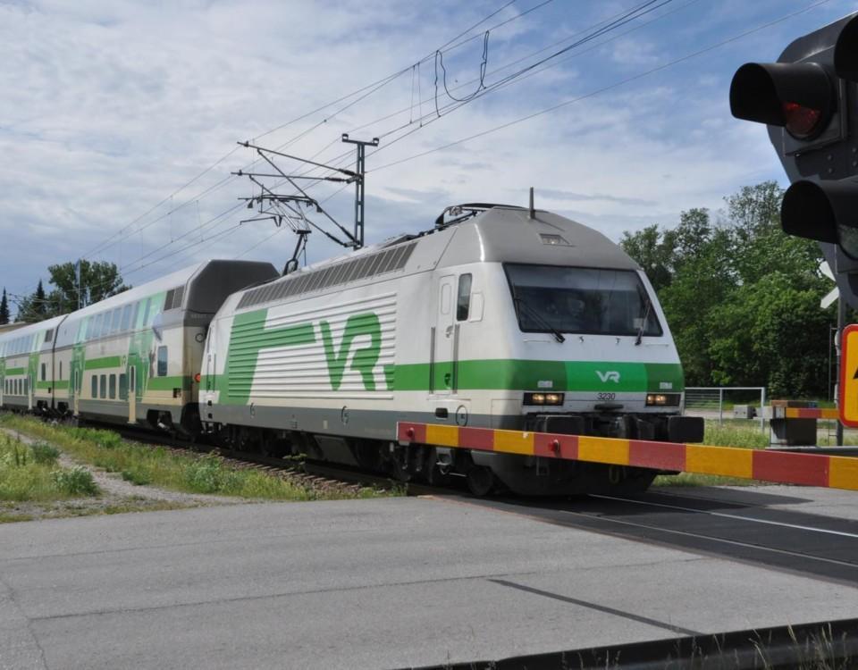 Ett tåg VR tåg.