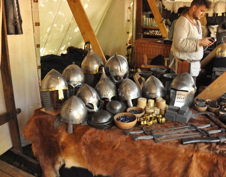 Medeltida rustning fotade på medeltidsmarknaden i Åbo