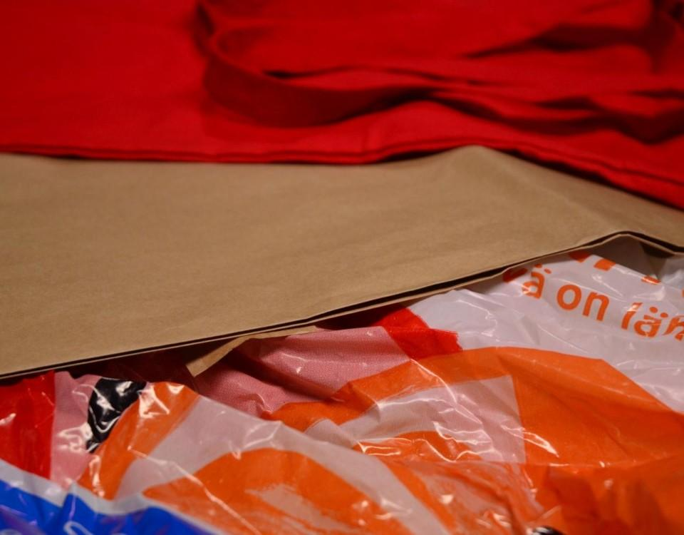 Tygkasse, papperspåse och plastpåse