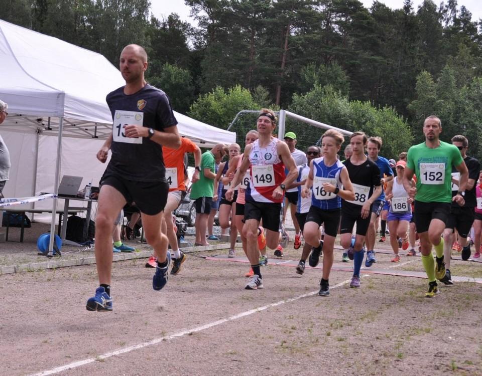 springande löpare fotograferade