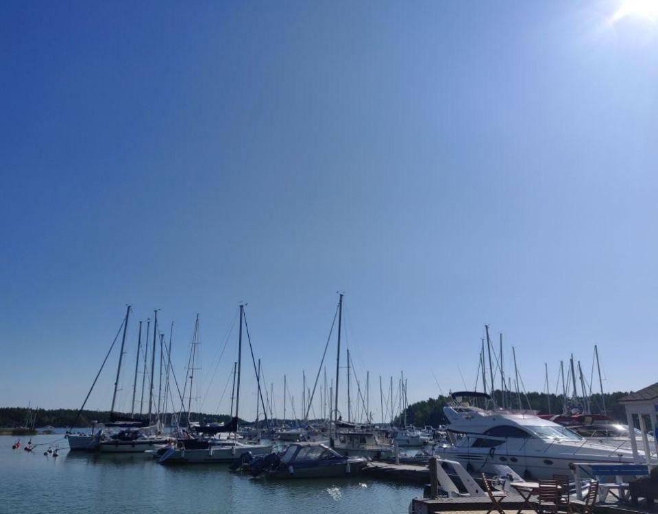 Nagu gästhamn för ett par år sedan. I höst och under våren renoveras hamnen, den öppnar på nytt i maj. ÅU-foto
