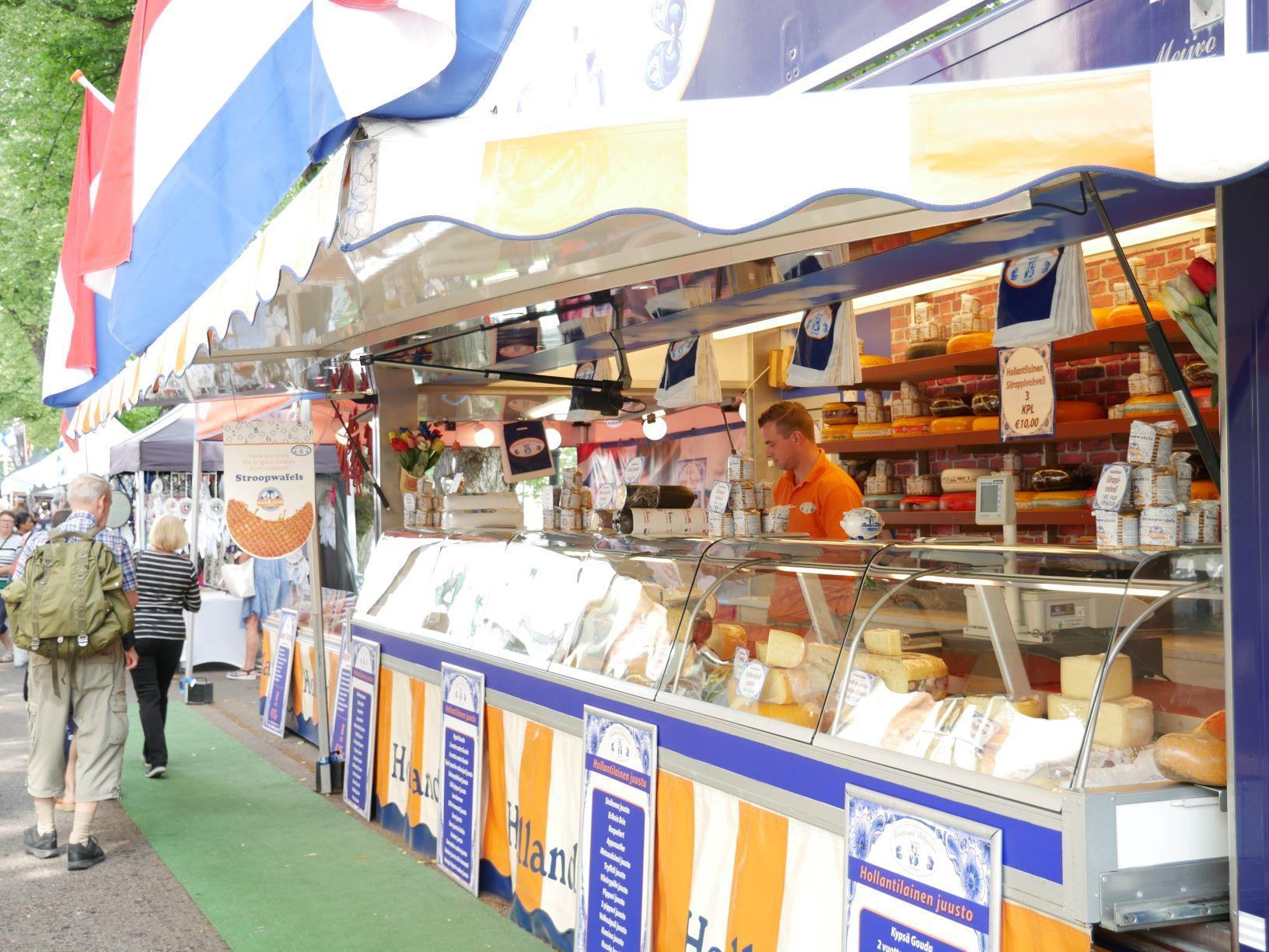 föräljningsstånd för holländsk ost