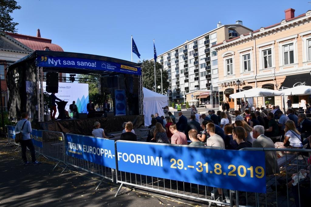 Europaforum började på torsdagen i Åbo. Evenemanget pågår i tre dagar.
