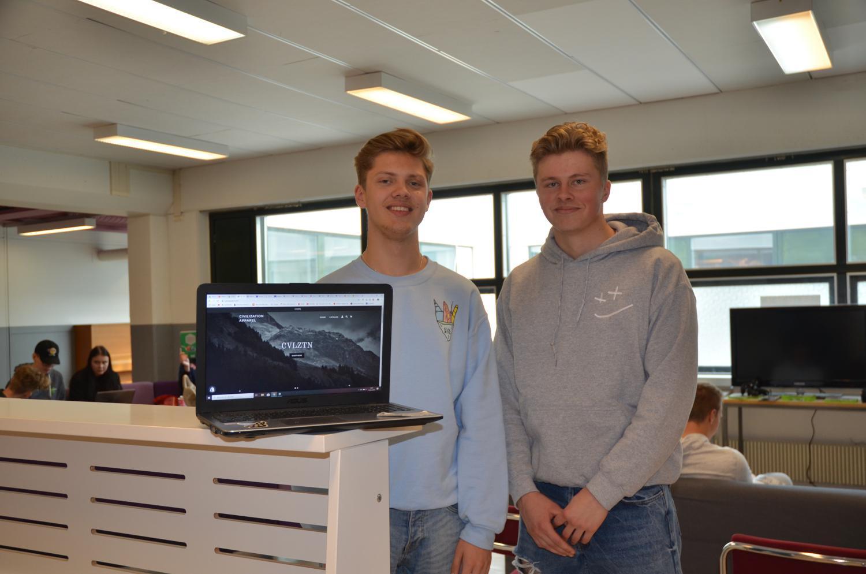 Två unga entreprenörer