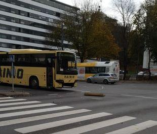 Krock på Nylandsgatan i Åbo. Foto: Axel Wilson