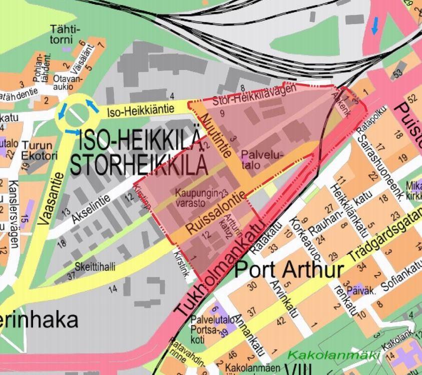 karta över Kirstiparken