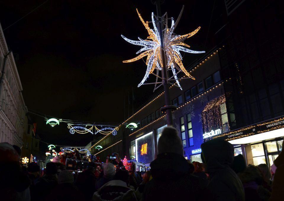 julbeysning på en gatan