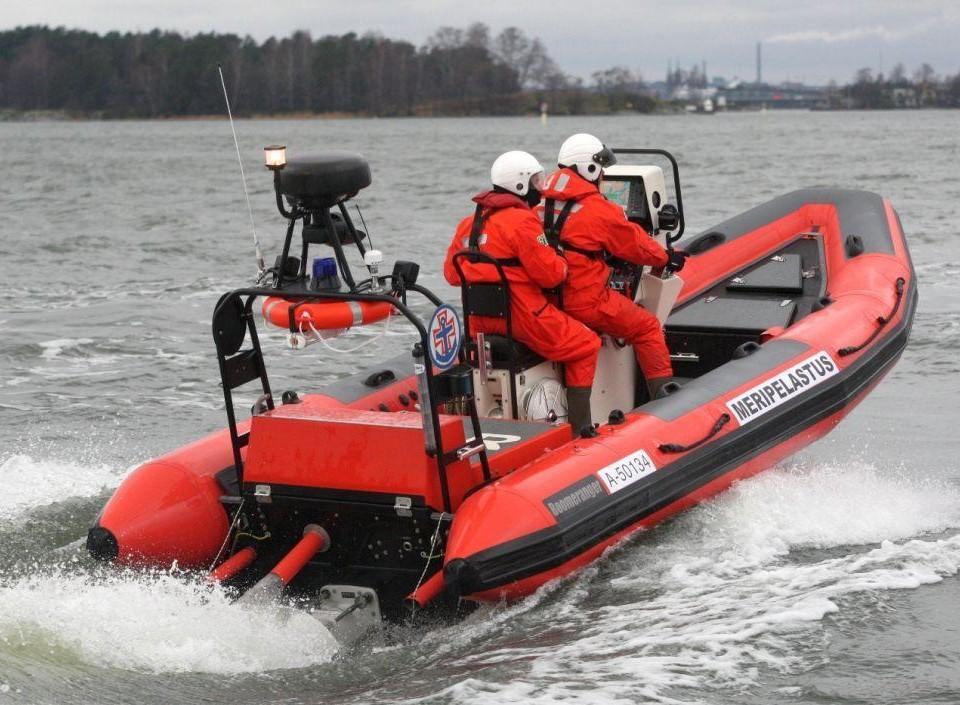 Frivilliga sjöräddare ute på uppdrag