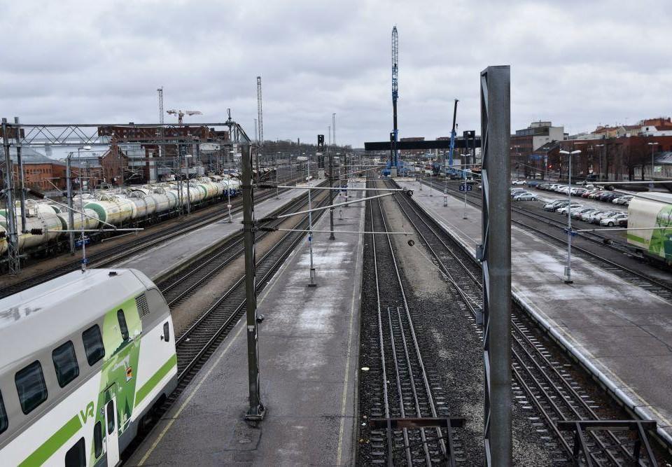 en tågstation