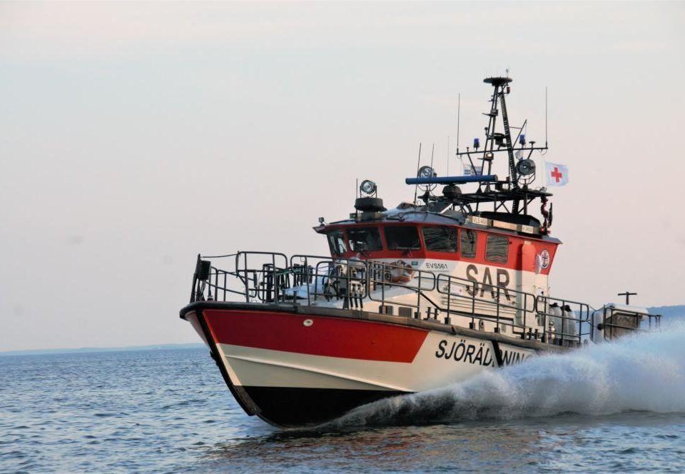 en sjöräddningsbåt