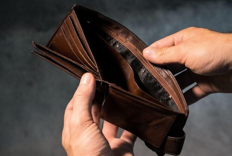 En tom plånbok.
