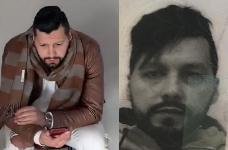 Två bilder av misstänkt skojare