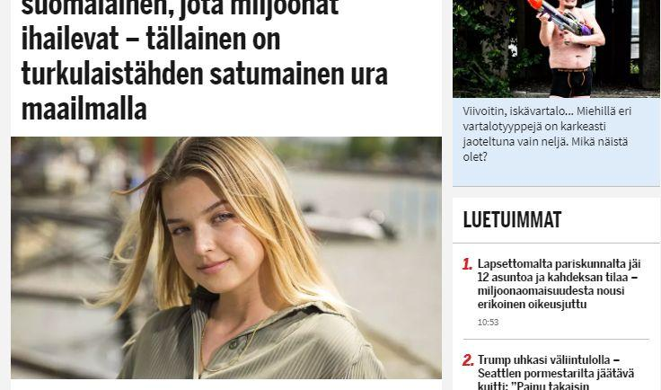 Skärmdum av en tidningsartikel.