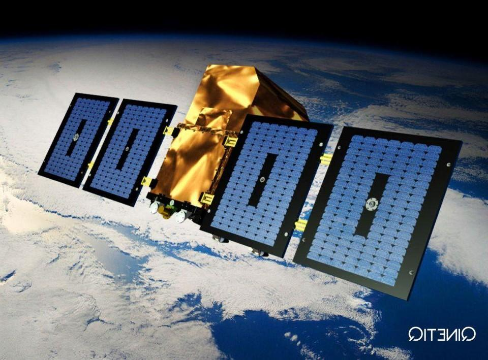 Satellit i rymden.