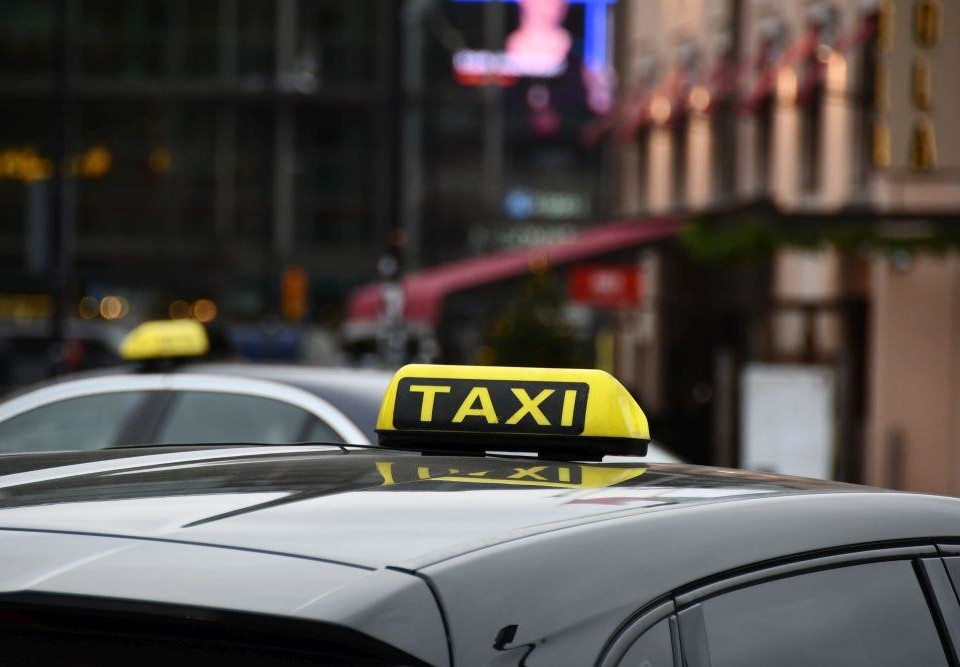 En taxibil