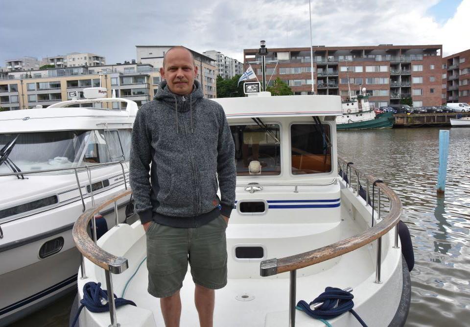 Johan Korin i Åbo gästhamn.
