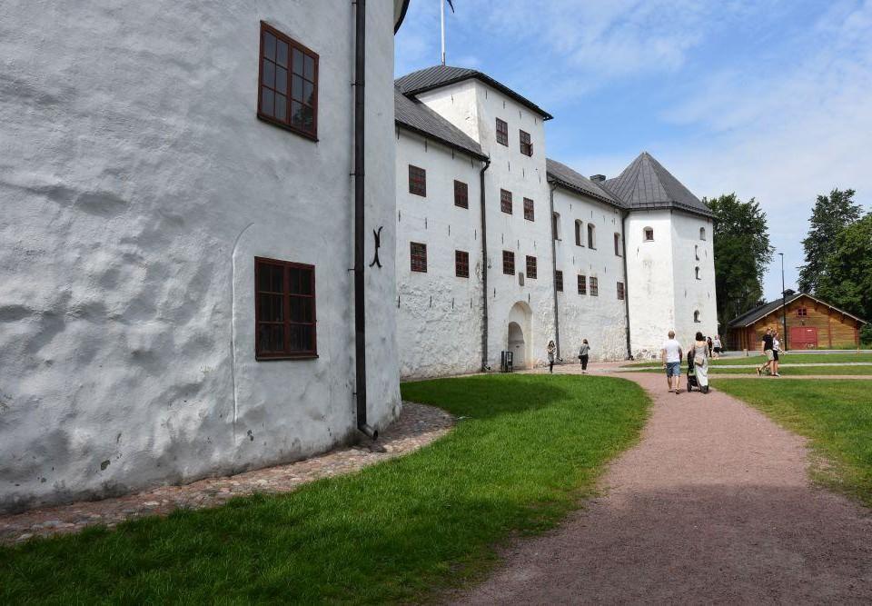 Åbo slott på sommaren.