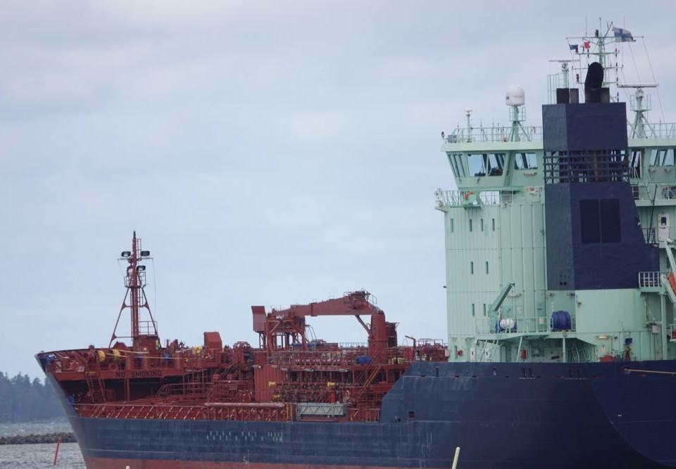 Ett fraktfartyg.