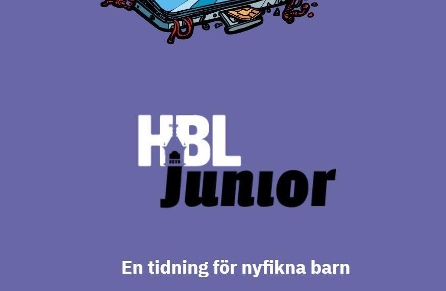 Skärmdump av webbplats med texten HBL junior.