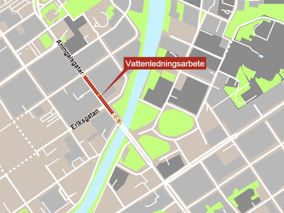 karta över Åbo stads centrum
