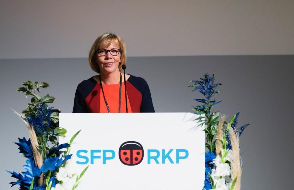 SFP:s ordförande Anna-Maja Henriksson
