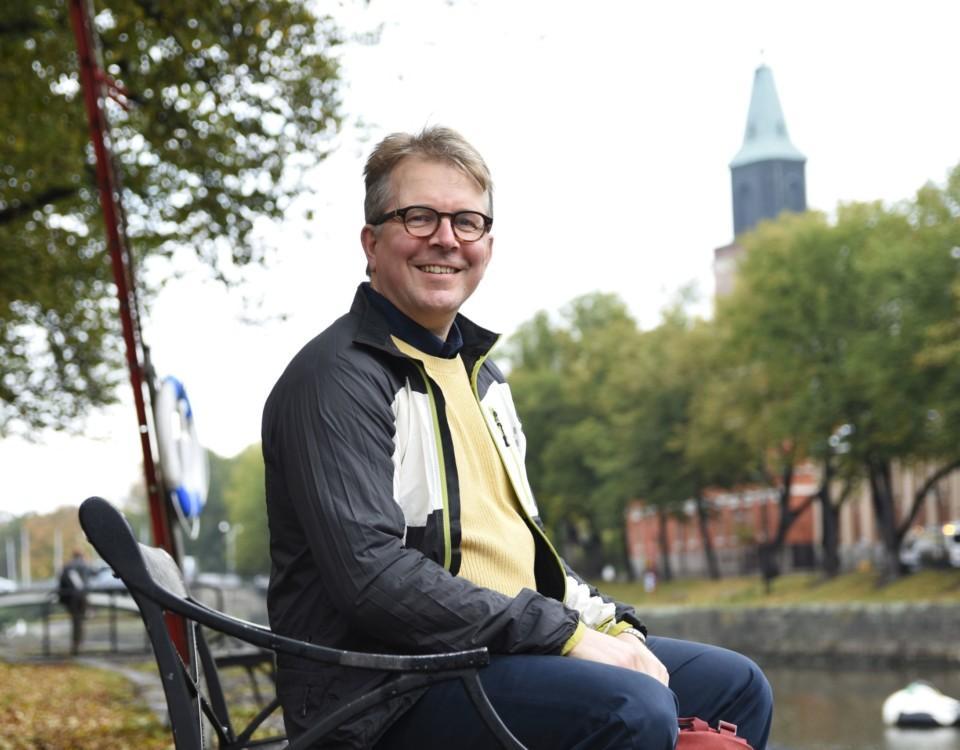 Risto Veivo, tillfällig klimatdirektör vid Åbo stad.