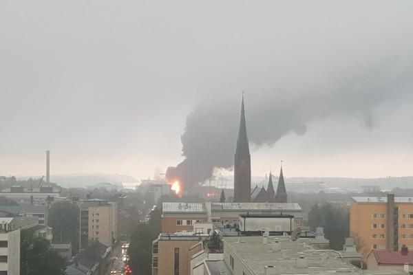 brand i stor byggnad
