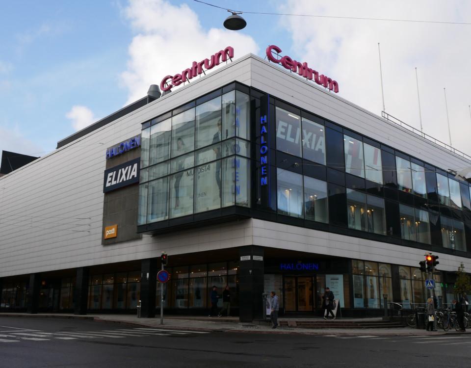 ett shoppingcenter sett utifrån