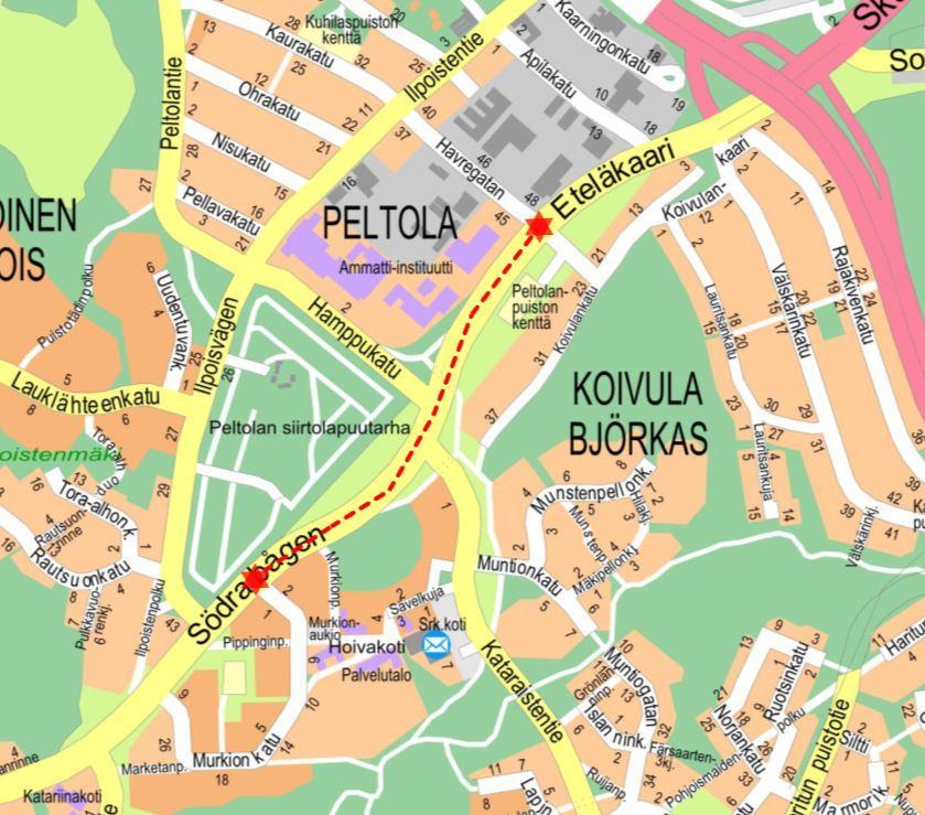 karta över Åbo