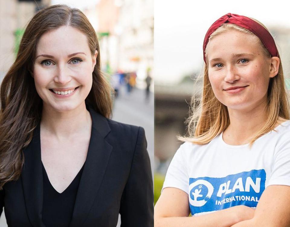 Statsminister och ung kvinna