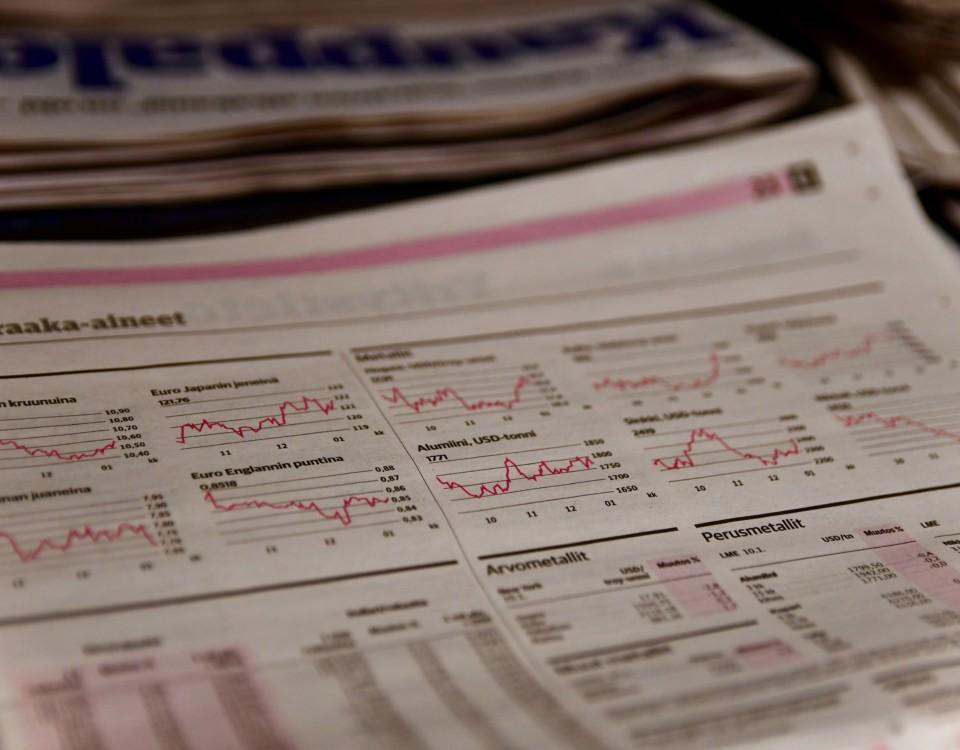 aktiesidan i en dagstidning
