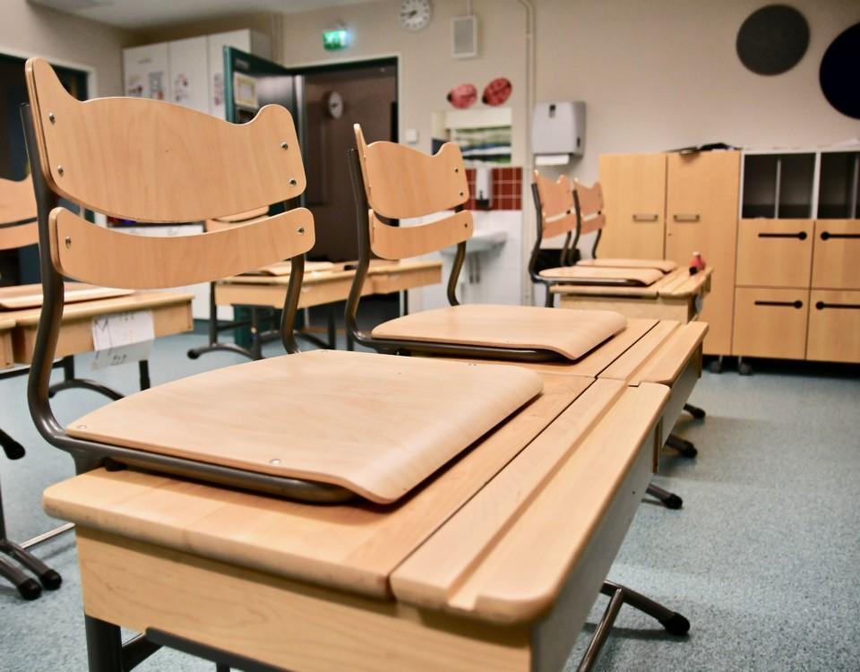 en tomt klassrum
