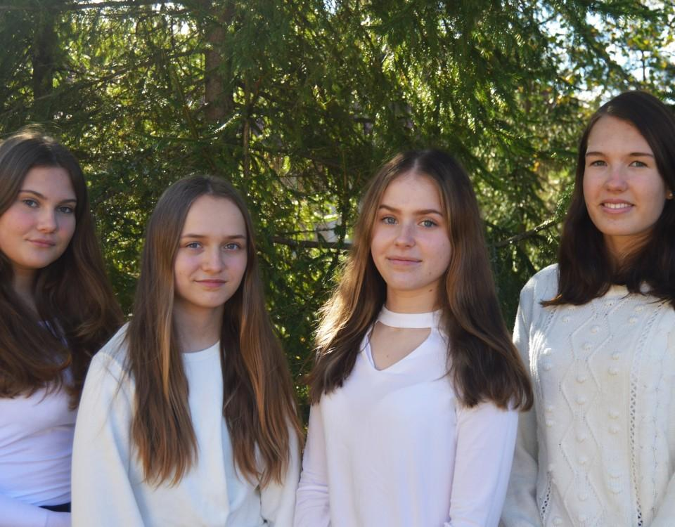 fyra luciakandidater