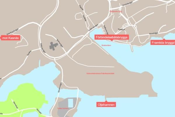 Karta över hamnområde
