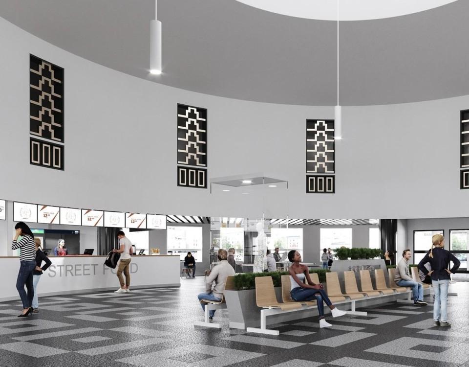 Vision av hur Åbo busstation kunde se ut