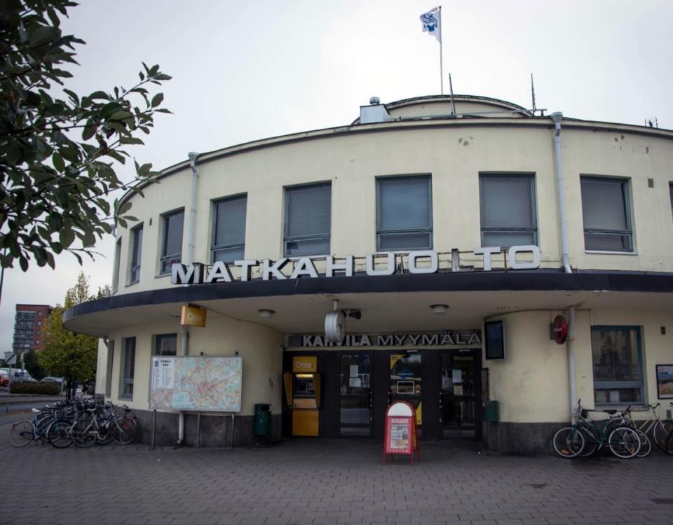 Åbo busstation utifrån