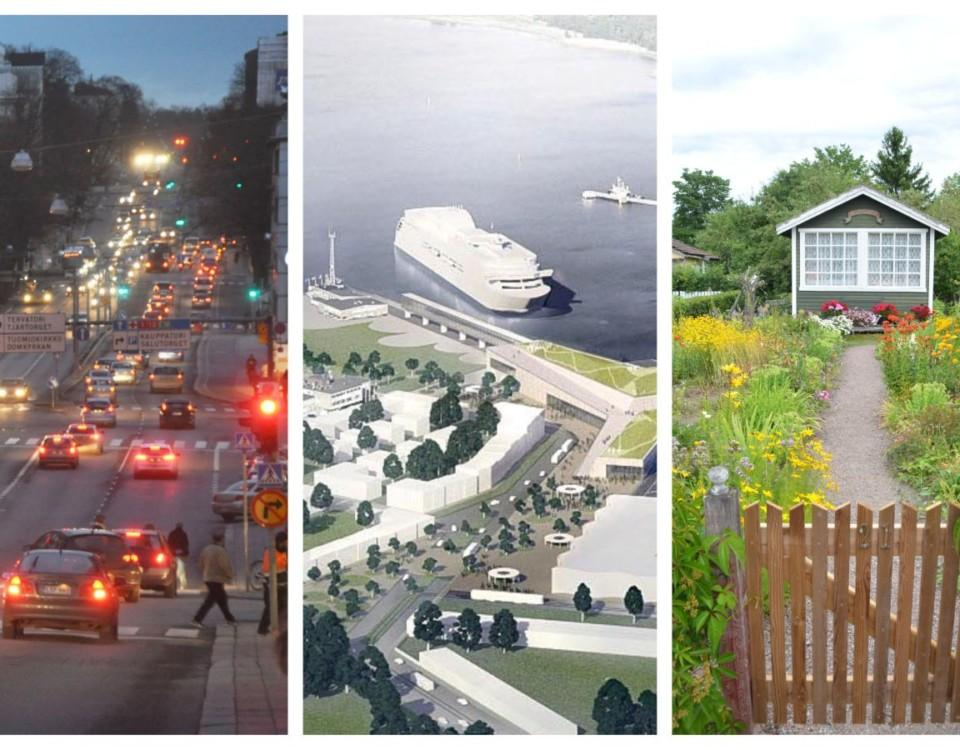 Bildkollage från Åbo stad